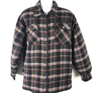 Cedar Hill Shirt Jacket Shacket Quilted Warm Plaid